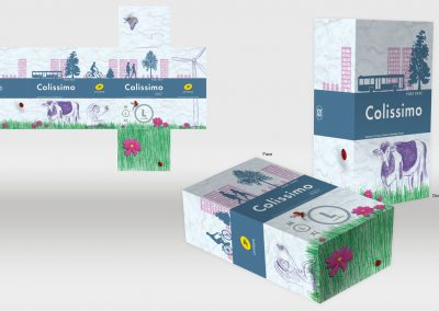 Proposition de packaging pour colis, thème écologie. Graphiste en Gironde, Bordeaux.