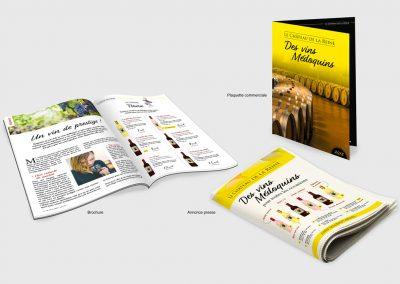 Brochure, plaquette commerciale, annonce presse
