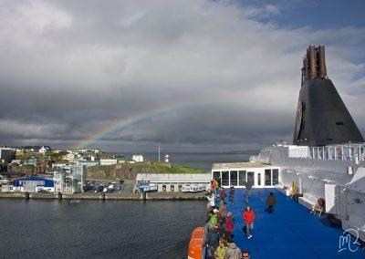 Carnet de voyage : Reportage photo Les îles Féroé, vue du Ferry. Photographe freelance en Gironde, Bordeaux.