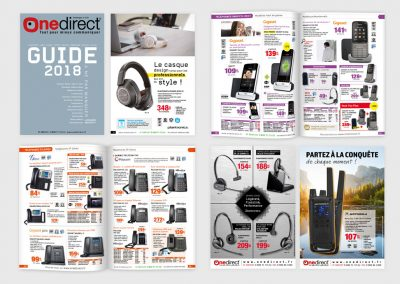 Catalogue papier de produits pour professionnels. Maquettiste et graphiste freelance en gironde, Bordeaux.