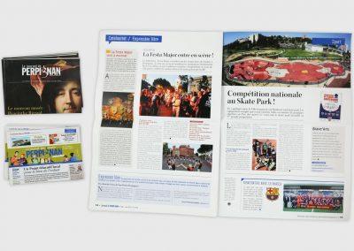 Mise en page du Journal de Perpignan. Maquettiste et graphiste freelance en gironde, Bordeaux.